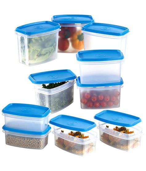 modular kitchen storage containers prime housewares storewel food saver set of 10 blue 7831