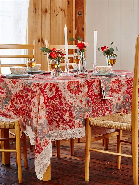 magic carpet linen tablecloth kitchen table linens