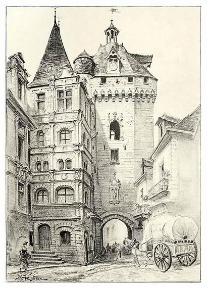 Loches Town Hall Illustration Robida Albert Illustrations