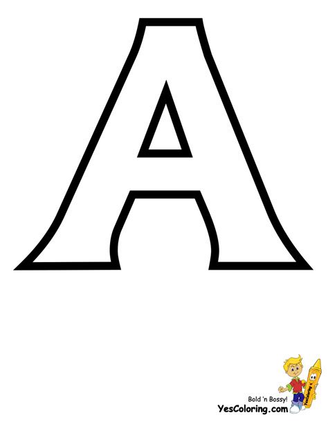 standard letter printables  alphabet coloring page