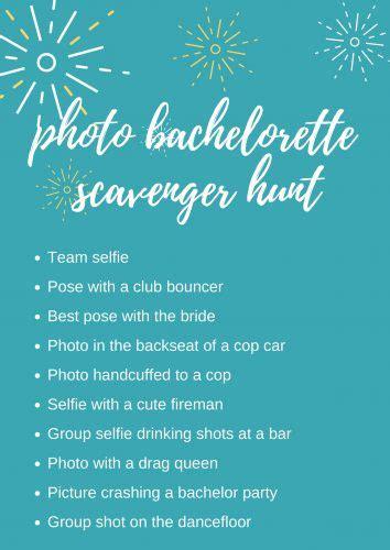 fun ideas   bachelorette scavenger hunt wedding