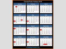 Canada Public Holidays 2019 – Holidays Tracker