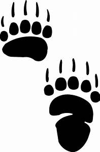 grizzly bear paw print cartoon clipart best With bear footprints template
