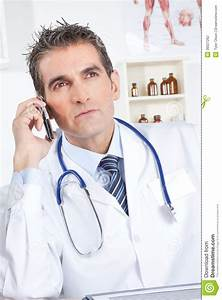 Male Doctor Using Mobile Phone Stock Photography - Image ...