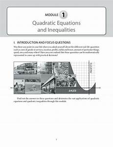 Grade 9: Mathematics Unit 1 Quadratic Equations and ...