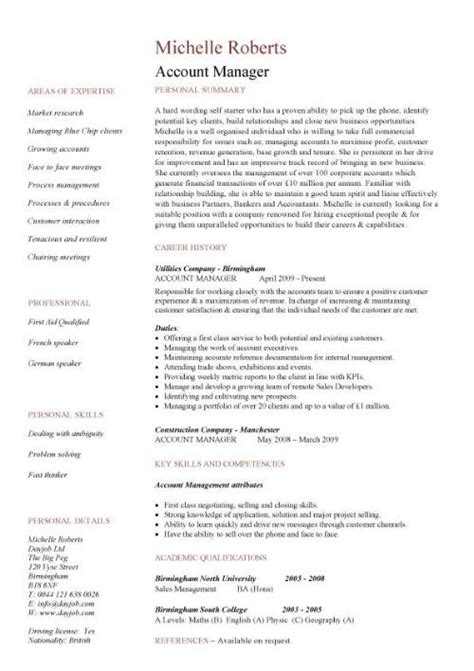 descriptions sles for resume
