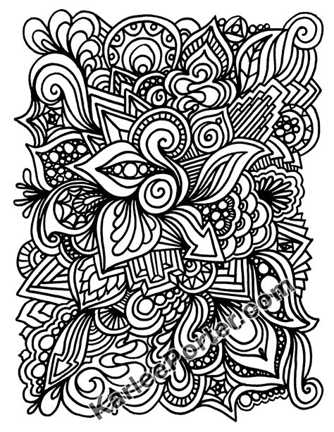 Graffiti Quilting Coloring Book – Downloadable – Karlee Porter