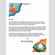 Printable Tooth Fairy Letter — First Tooth