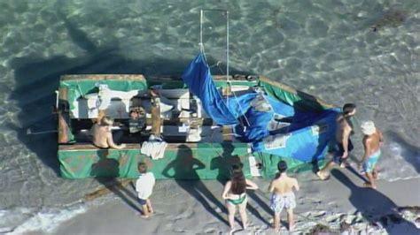 makeshift boat washes ashore fort lauderdale