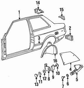1991 Volkswagen Fox Hinge Screw  2 Door