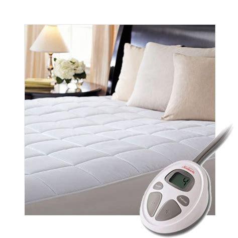 heated mattress pad king sunbeam premium quilted heated king mattress pad bedroom