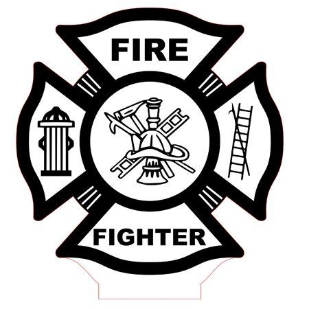 Download now the free icon pack 'fire department'. Fire fighter emblem led lamp vector file | Firefighter ...