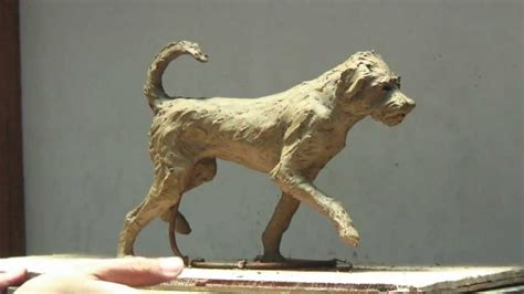 scout  dog clay sculpture step  step  barton