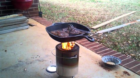 diy forced air wood gas stove part   cooking test