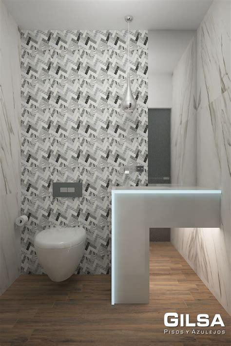 Cuarto de baño de estilo moderno. Materiales utilizados