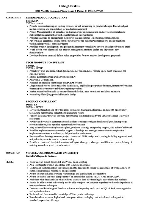 resume for product consultant product consultant resume sles velvet
