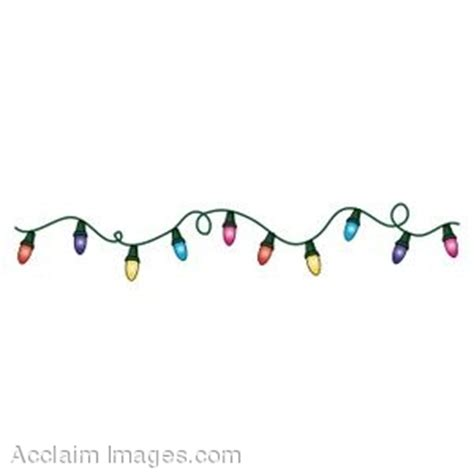 coloured lights christmas tree christmas fairy lights clipart 49