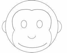 monkey birthday cake template - cake pattern use the picture above as a guide for frosting