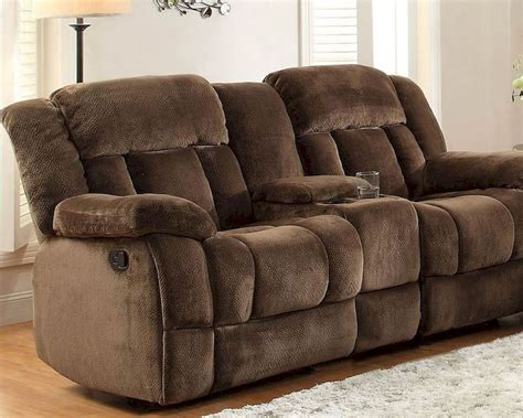 Furniture Loveseat Recliners by Chocolate Glider Reclining Loveseat Laurelton By