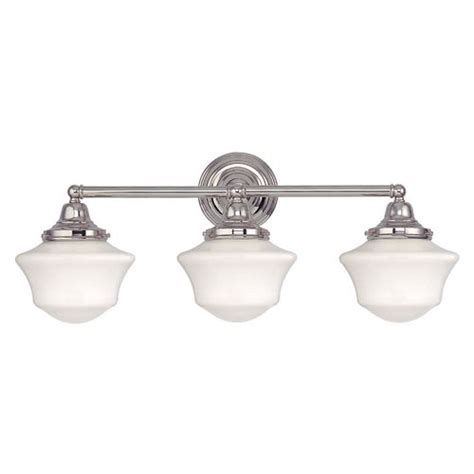Polished Nickel Bathroom Lighting Fixtures by 1000 Ideas About Schoolhouse Light On