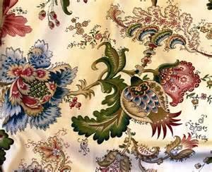 la maison lafortune vintage jacobean floral fabric