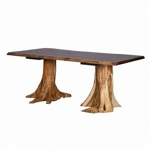 Walnut Top Stump Table King Dinettes Custom Dining