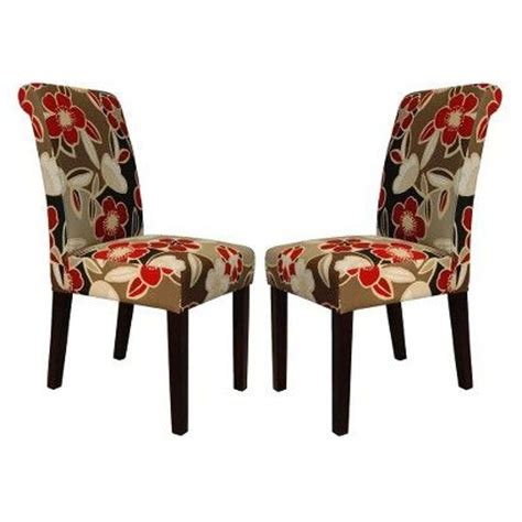 target fabric dining room chairs avington dining chair set of 2 floral target home
