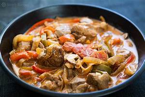 Turkey Stew with Peppers and Mushrooms Recipe