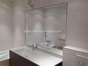 miroir salle de bain sur mesure wikiliafr With miroir salle de bain lumineux sur mesure