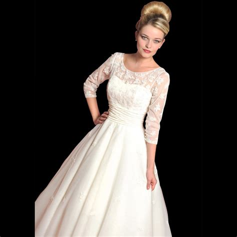 wedding dress with sleeves dahlia vintage style wedding dress with sleeves by loulou style lb26