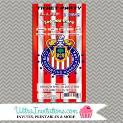 baby boy shower theme club chivas guadalajara futbol soccer birthday invitations