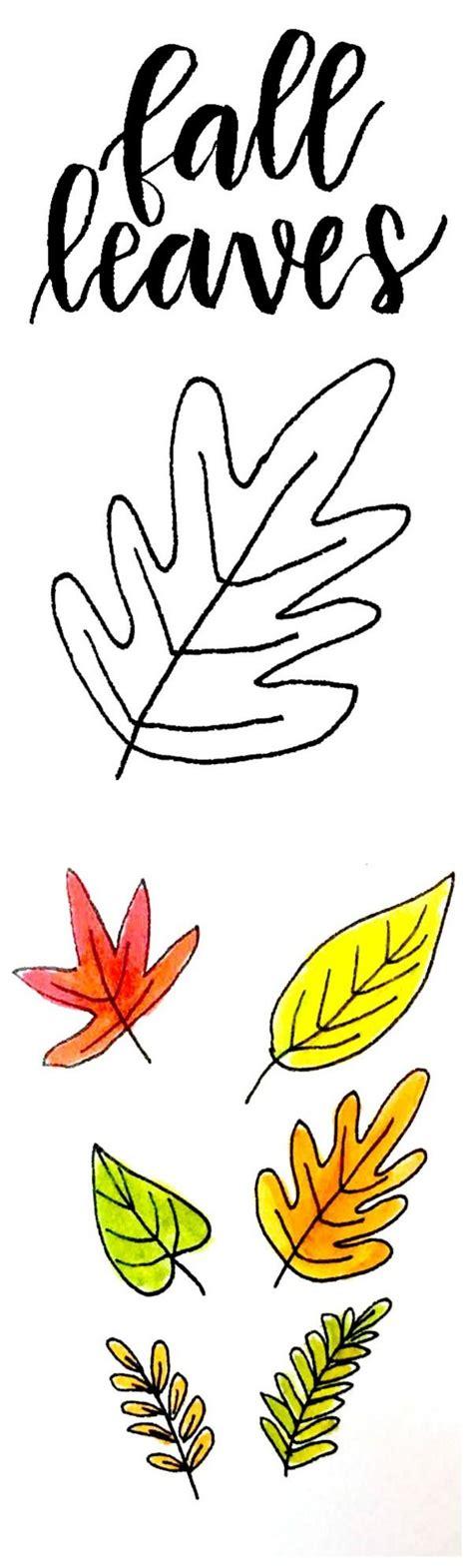 ways  draw fall leaves dawn nicole designs fall