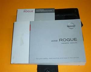 2009 Nissan Rogue Owners Manual Set 09 Guide W  Case S Sl