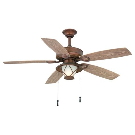 Outdoor Ceiling Fans Home Depot by Hton Bay Glacier Bay 52 Quot Outdoor Rustic Copper Ceiling