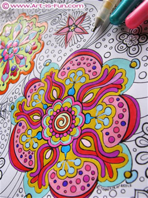 abstract coloring pages art  fun