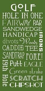 Golf Terms Digital Art By Jaime Friedman