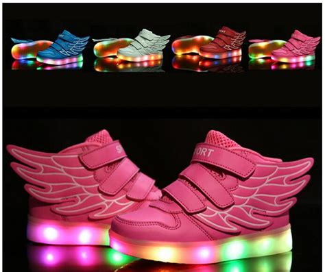 free light up shoes children shoes with light up sneakers for kids usb
