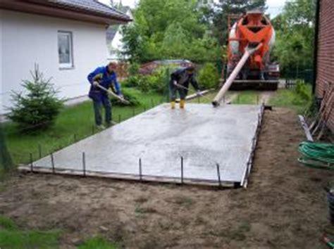 Bodenplatte Garage Anleitung by Betonbodenplatten Selbstbau