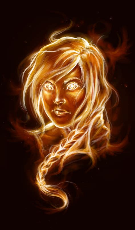 The Girl On Fire By Lorellashray On Deviantart