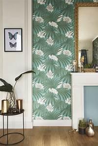 Tapisserie 4 Murs : elegant dcorez votre entre avec du papier peint floral et ~ Melissatoandfro.com Idées de Décoration