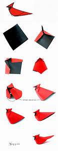 Northern Cardinal Origami By Giang Dinh
