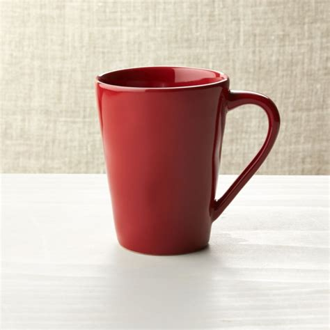 marin red coffee mug reviews crate  barrel