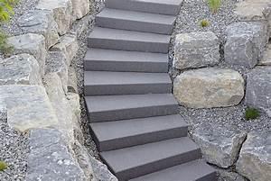Treppenstufen Außen Beton : betonstein stufen blockstufen und stufenplatten garten pinterest garten treppe und ~ Frokenaadalensverden.com Haus und Dekorationen