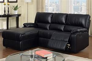 37 beautiful sectional sofas under 1000 With black bonded leather sectional sofa with single recliner