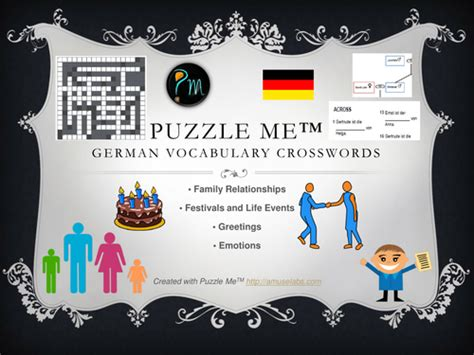 French Vocabulary  Family, Greetings, Emotions Crossword Puzzles By Puzzleme Teaching