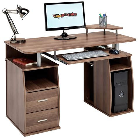 desk with drawers computer desk with shelves cupboard drawers home office