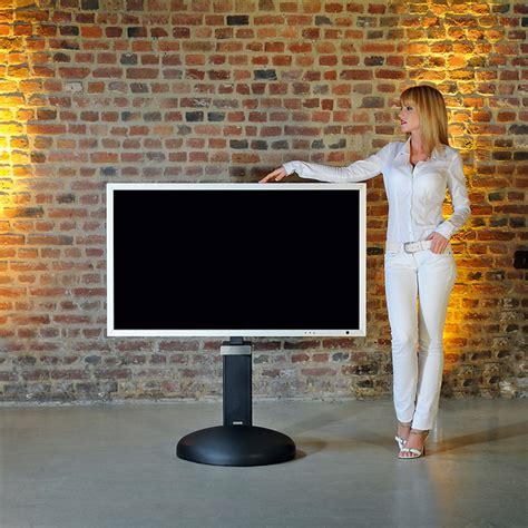 tv standfuss curve art eleganter fernseher standfuss