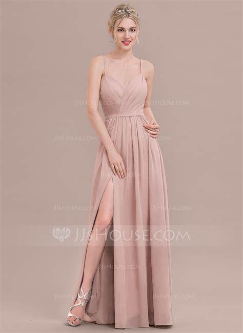ruffle bridesmaid dress a line princess sweetheart floor length chiffon bridesmaid dress with ruffle split front