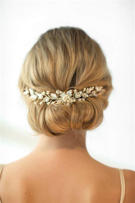 Bridal Hair Accessory, Crystal Hair Swag, Wedding Hair