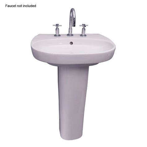 home depot bathroom sink installation barclay products zen 600 23 in pedestal combo bathroom